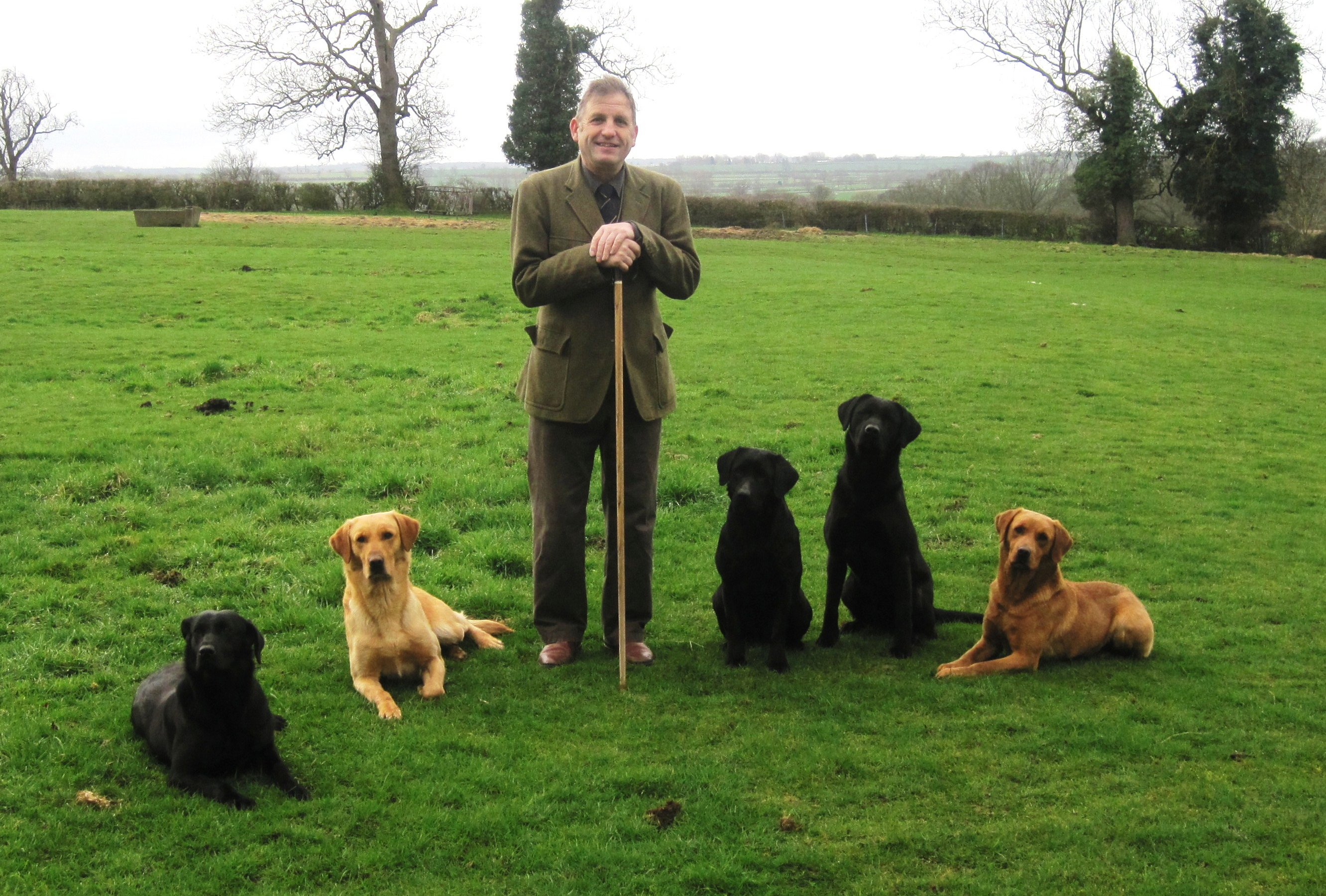 Phil Garton and dogs